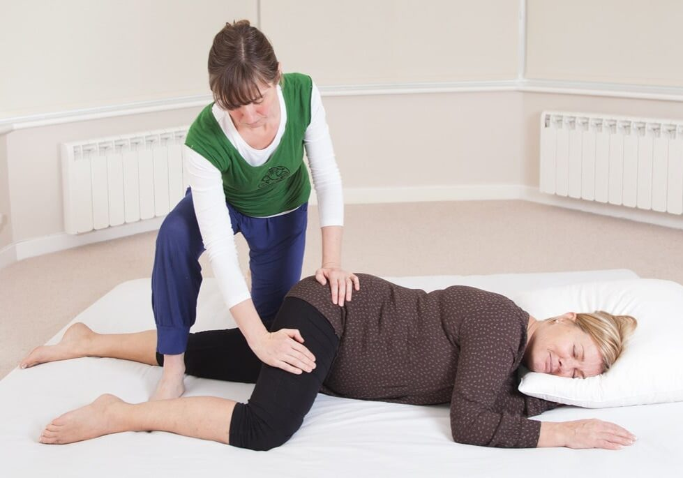 lady recieving thai yoga massage